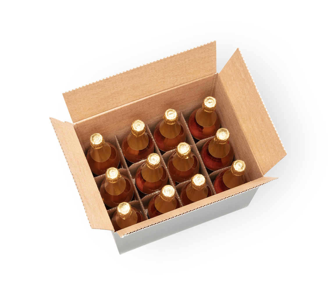 A box of bubblies 12 × 0.75 l